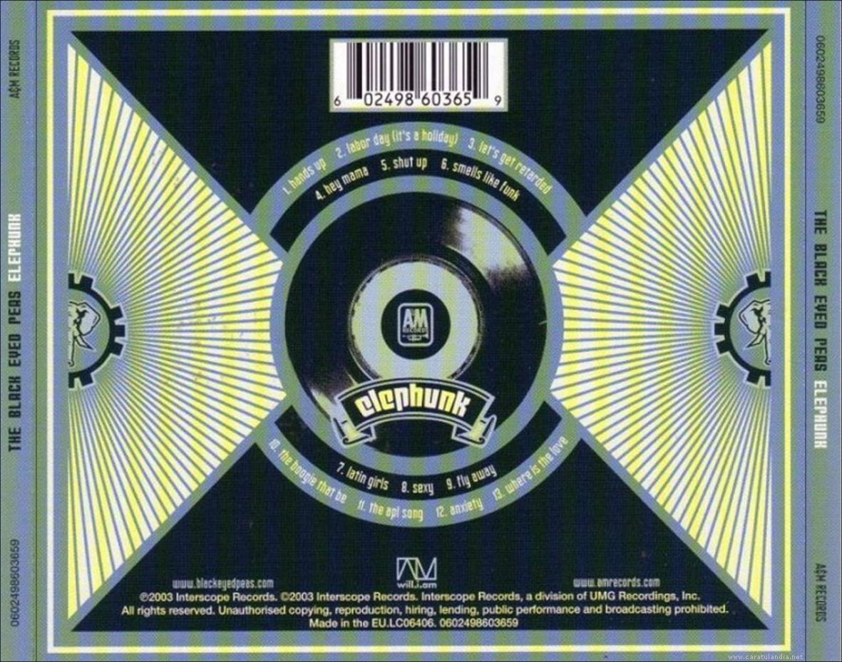 THE BLACK EYES PEAS -  ELEPHUNK - 2003 - BACK